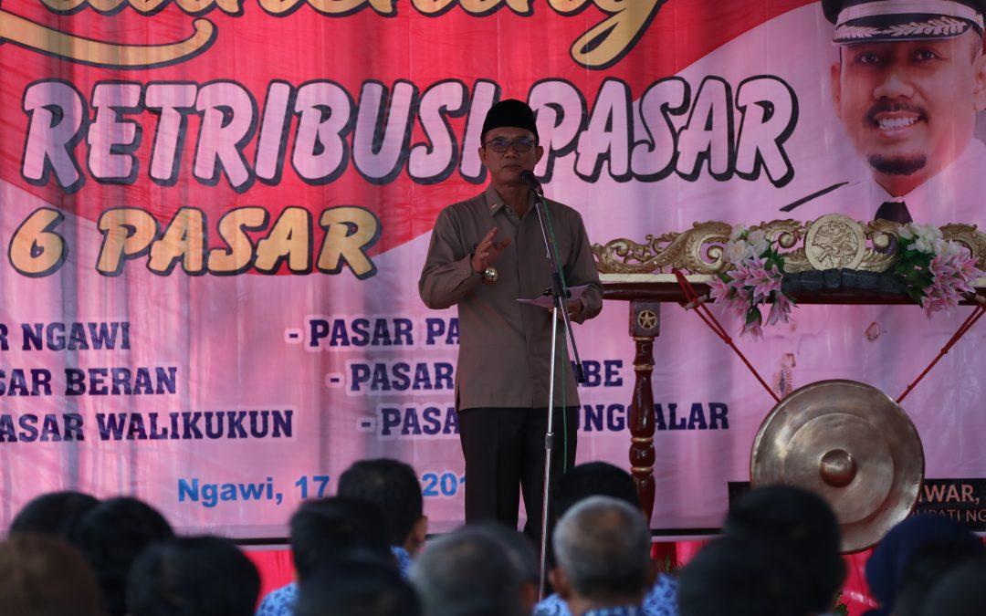 Kabupaten Ngawi Luncurkan E – Retribusi Pasar