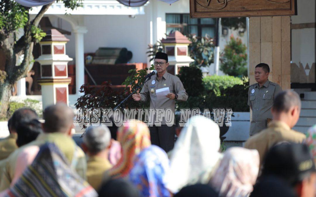 Bupati Pimpin Apel Bersama, Persiapan Eavaluasi SAKIP 2018