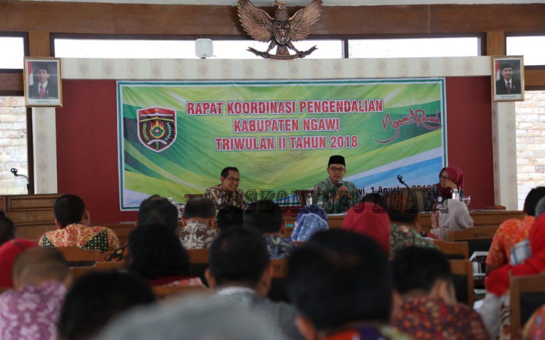 Pemkab Ngawi, Gelar Rakor Pengendalian Kabupaten Ngawi Triwulan II Tahun 2018