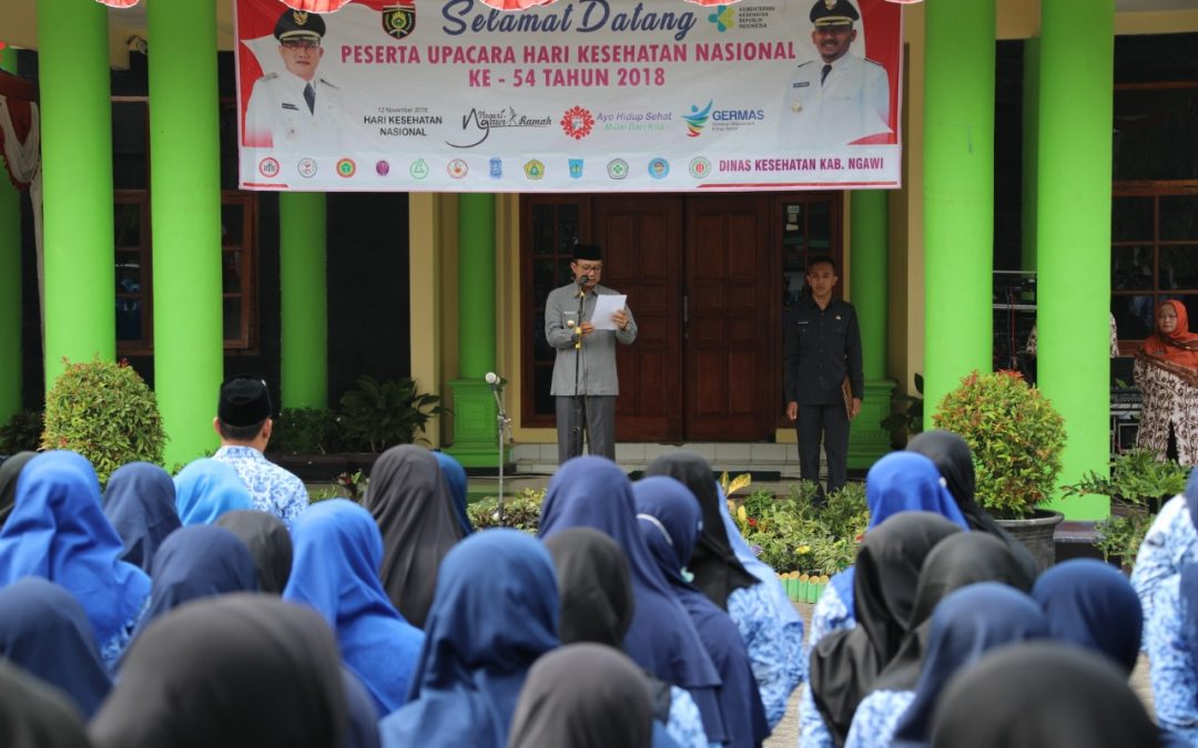 HKN Ke 54, Momentum Ubah Upaya Kesehatan Menjadi Preventif dan Promotif Bupati Ngawi : Kesehatan dimulai dari diri sendiri
