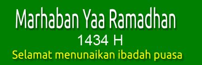 Himbauan Pelaksanaan Kegiatan Bulan Ramadhan dan Hari Raya Idul Fitri 1434 H